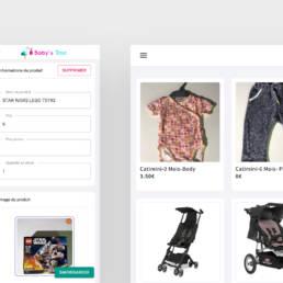 Interface simplifiée Baby's Troc