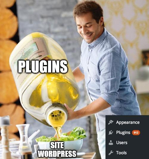 Meme Internet d'une personne versant une trop grande quantité d'huile dans son assiette